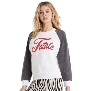 Wildfox Fatale Pullover Sweater Large NWT